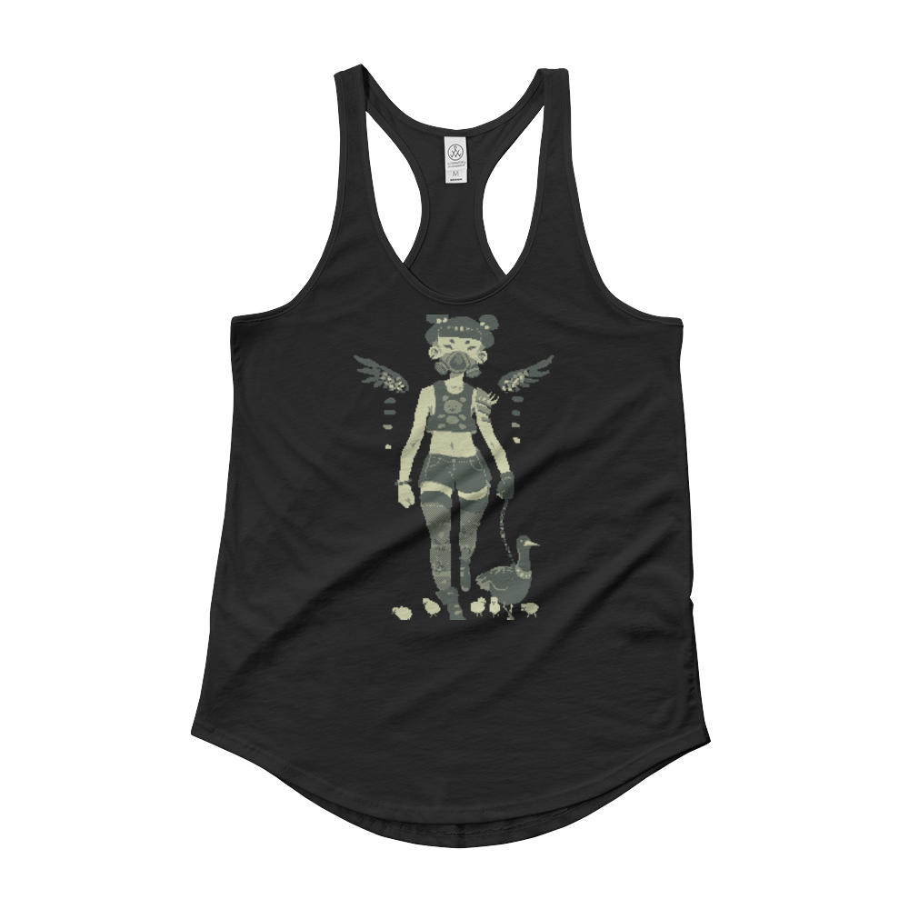 Women's Alternative Satin Jersey Shirttail Tank