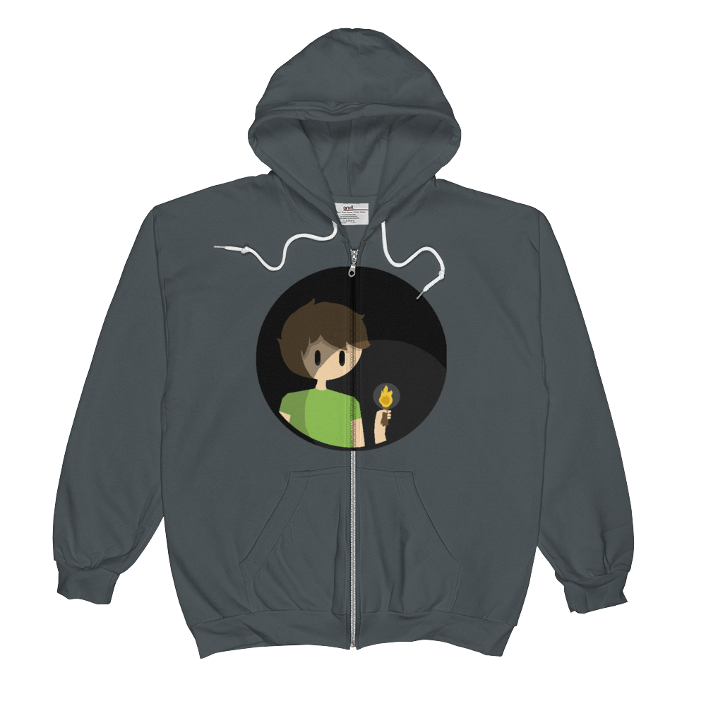 Men's Anvil Full-Zip Hooded Sweatshirt