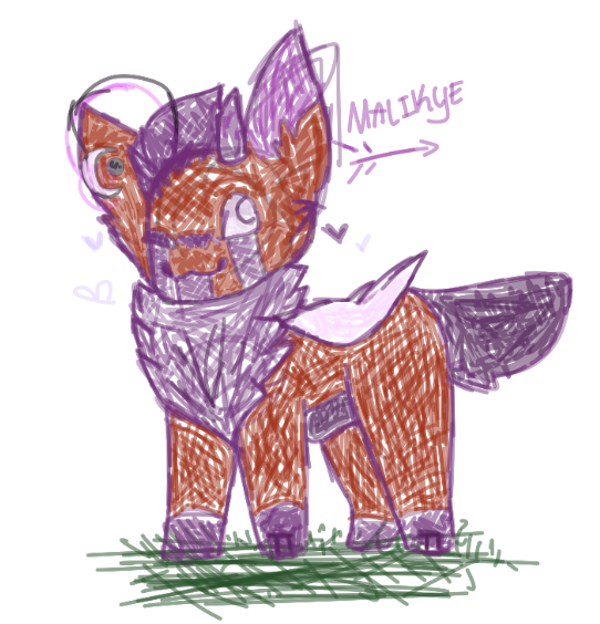 Have a doodle of Malikye  by Bluw-Warf