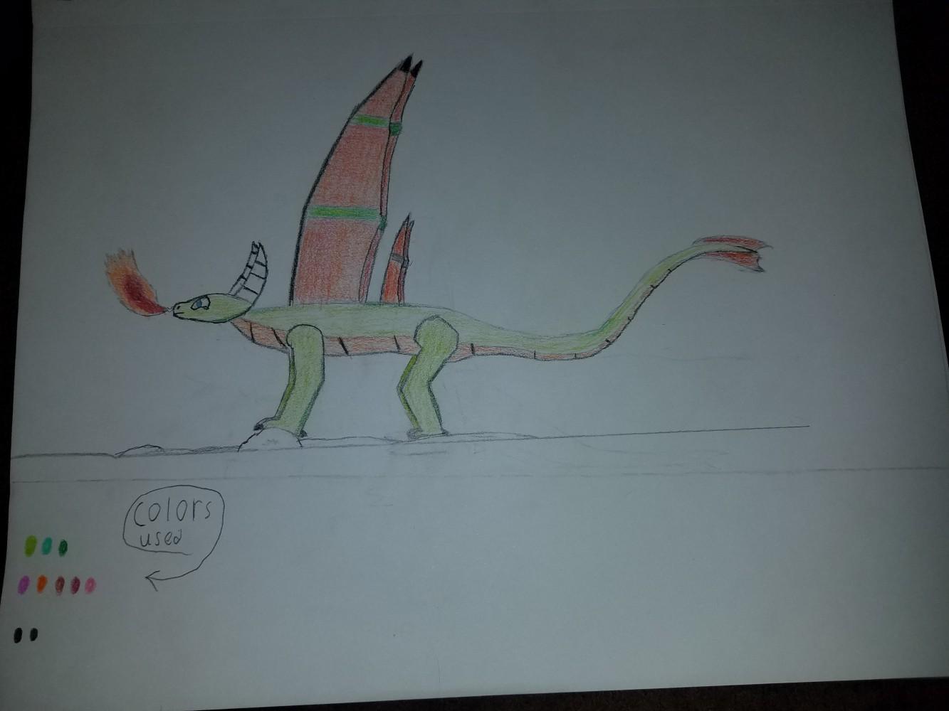 Rudder the dragon by Manj10