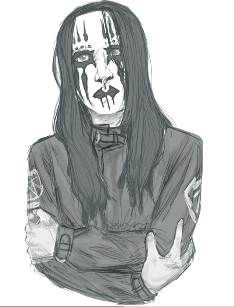 main-image-wip: joey jordison uploaded by skeleton-eyes