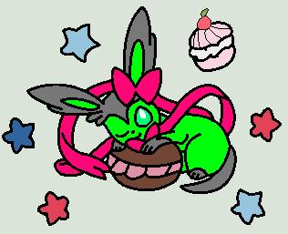 me eating desserts by RalseiDreemurr