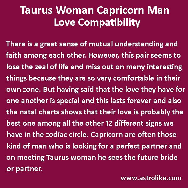 capricorn man dating a taurus woman