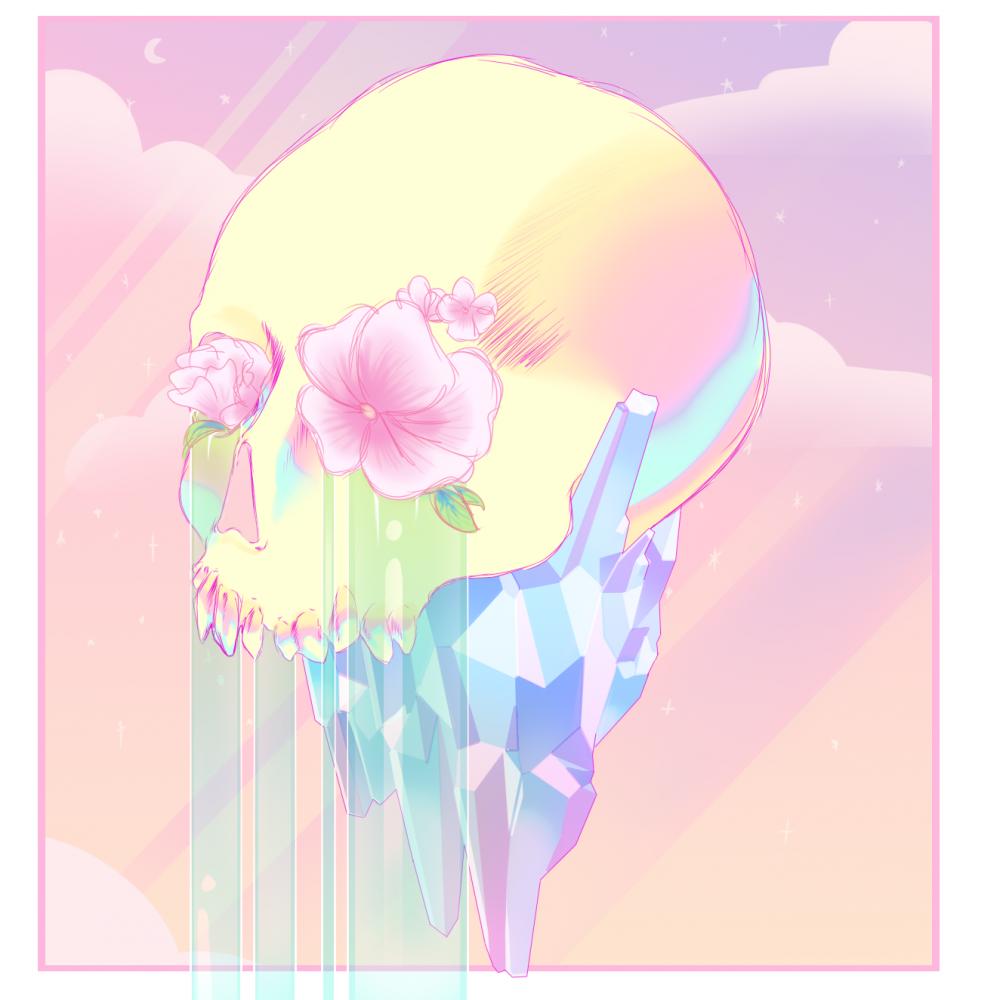 Bones and flowers  by ErrorTv
