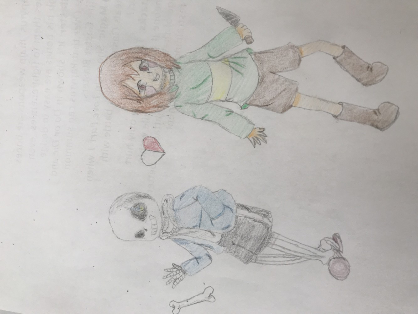 Chara and Sans by Meowi-me
