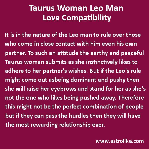 Taurus Woman Leo Man Love Match