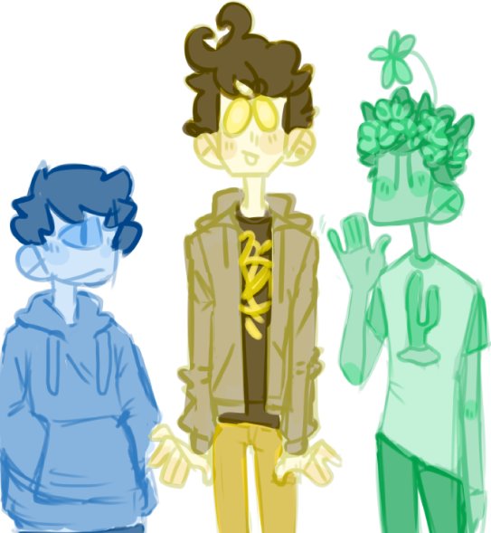 three lads  by skeleton-eyes