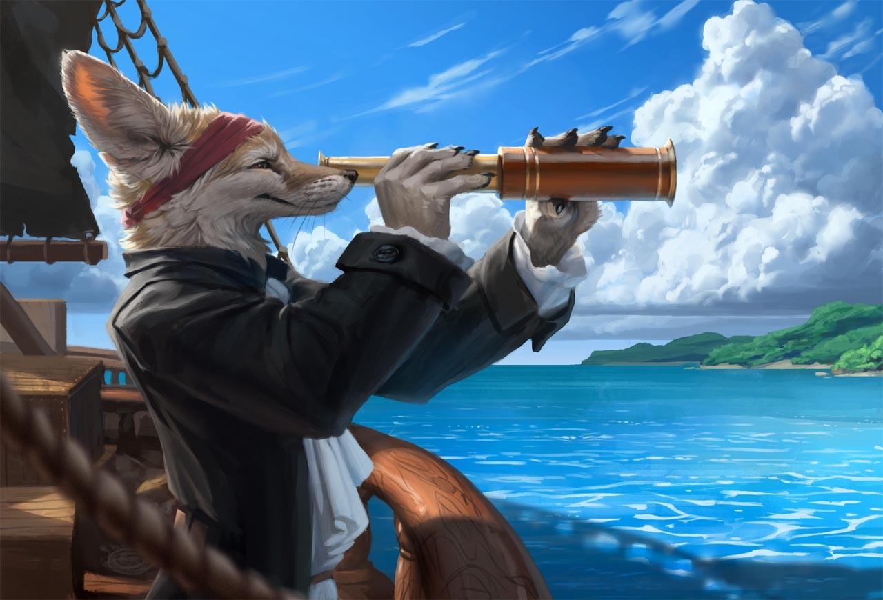 Картинки лис пират