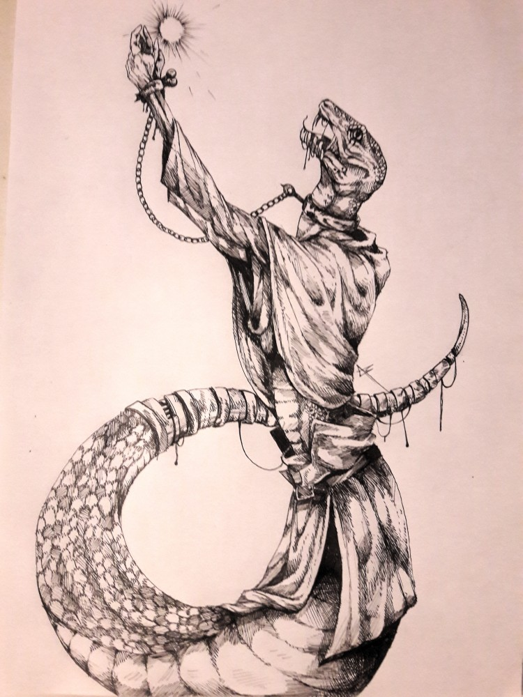 main-image-Snake man uploaded by MikaeART