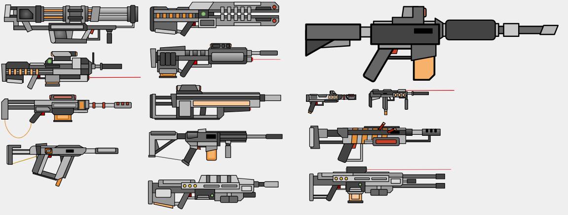 Random Weapon Designs by Pixil-Artist