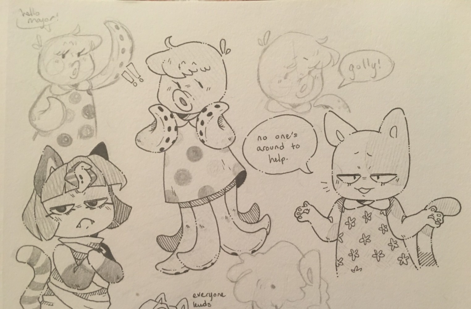 main-image-some animal crossing villagers  uploaded by moist-macaroni
