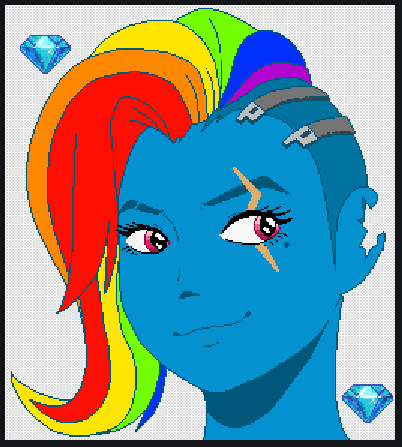 rainbow dash soldier human by artsygirl19