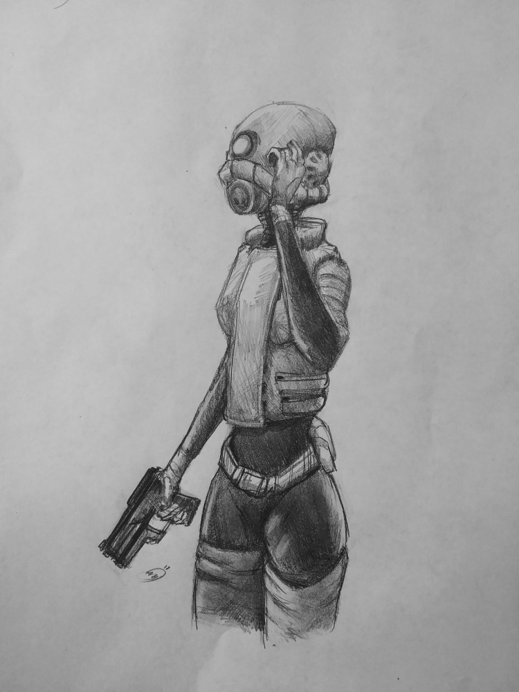 main-image-Combine Assassin Pencil Sketch uploaded by StrangeFox
