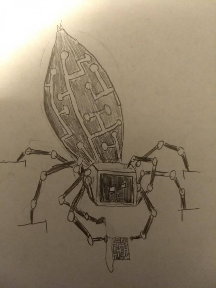 The Weaver (Sketch) by Rift-Studier