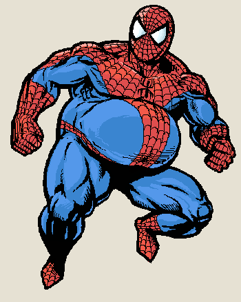 Chubby Spider-Man by Kloxbyn
