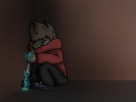 Alleyway tears (bad doodle) by Communist