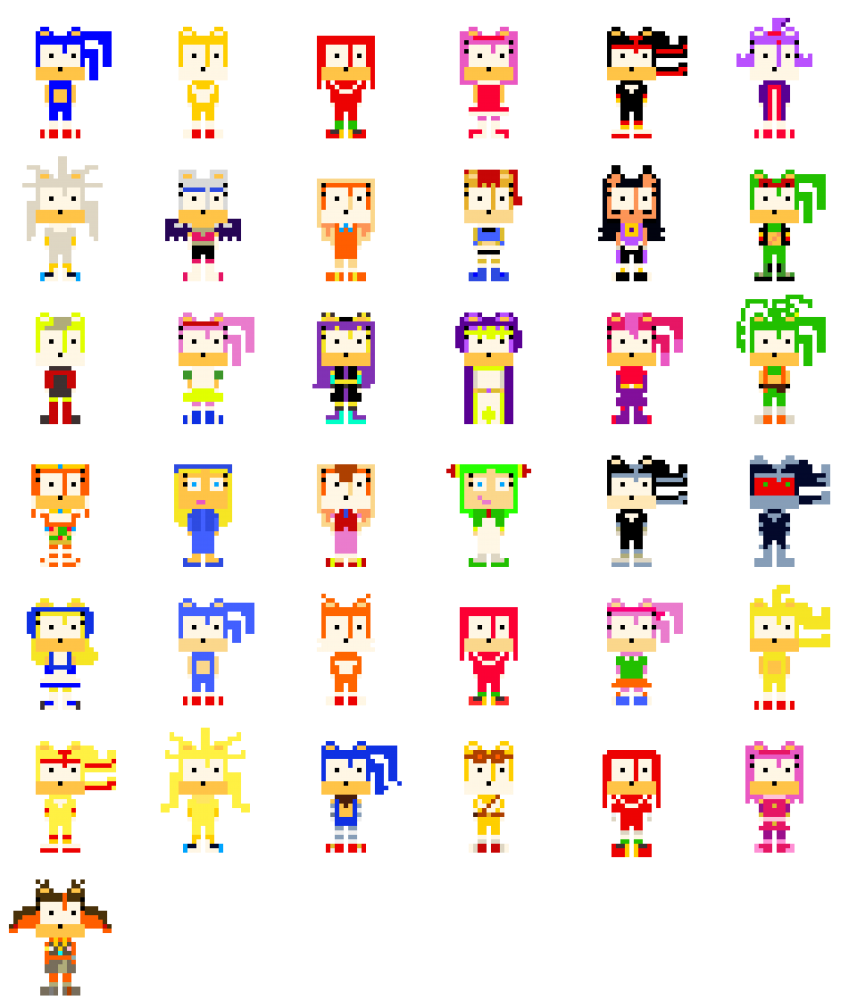 Pixilart All Sonic The Hedgehog Characters Uploaded By Rose