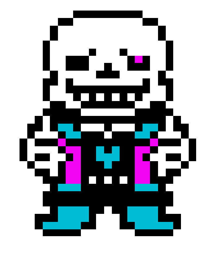 Pixilart Pixel Art De Sans Uploaded By Ralsei 59