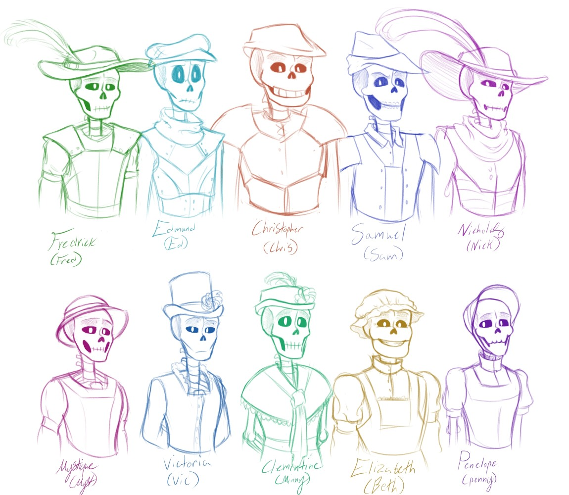 OC's from the my Universe by SkeletonFred