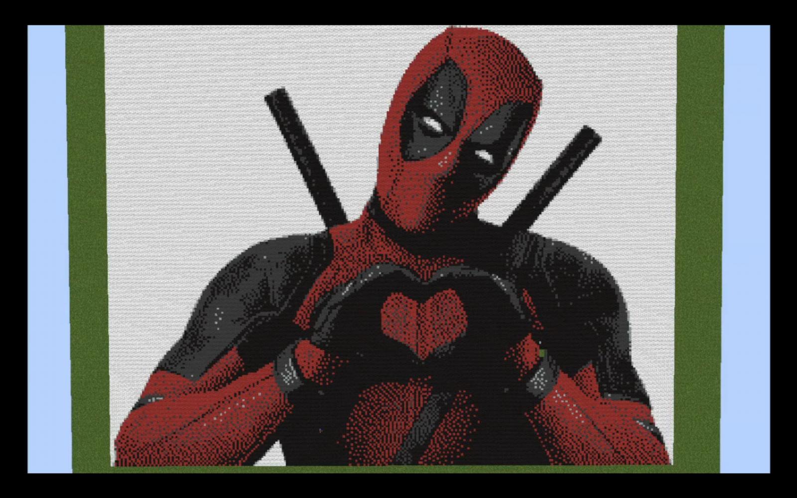 Pixilart Deadpool Pixel Art By Spenceman2002