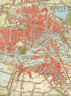 WW2 Rotterdam 1940 Map by Red-Baron