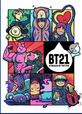 bts and bt21 by yeah-im-gay
