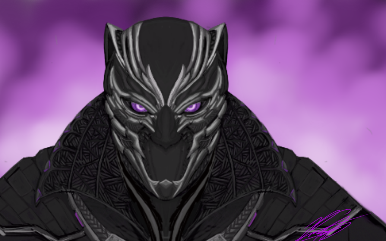 Black panther fan art by vims20