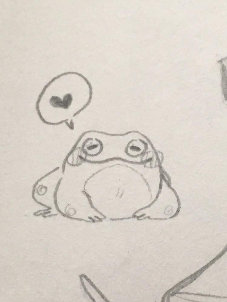 it's a frog  by moist-macaroni