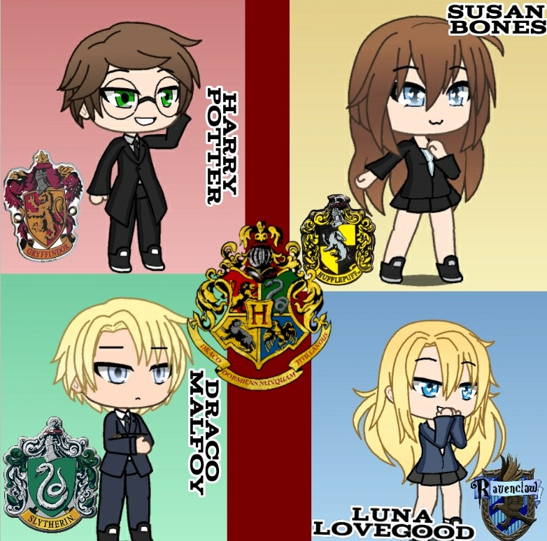 Harry Potter houses by XxLeah-GamesxX