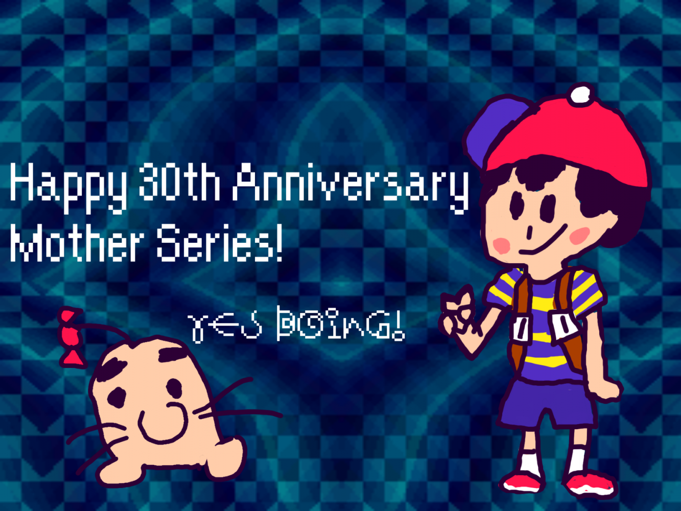 Pixilart - Happy 30th Anniversary Mother 1! by Coolguy1a123