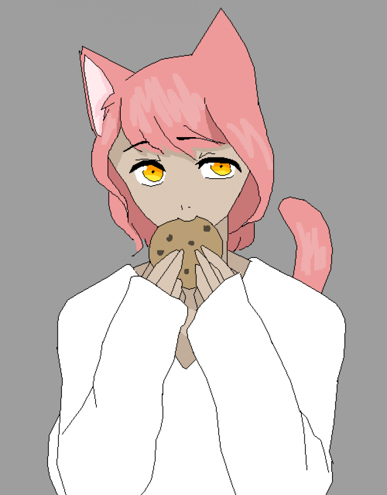 cat eating cookie  by Cassidy