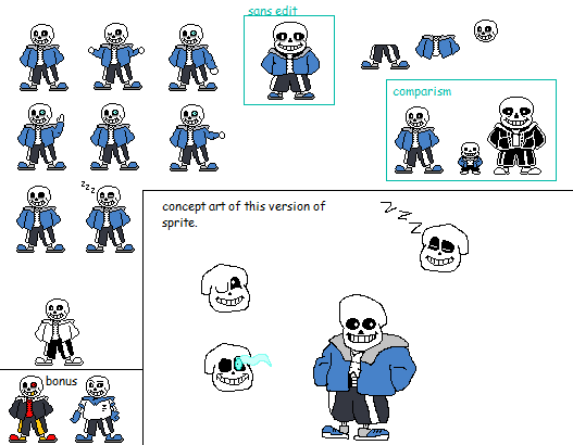 Pixilart - Sans made from Scratch Sprites! uploaded by