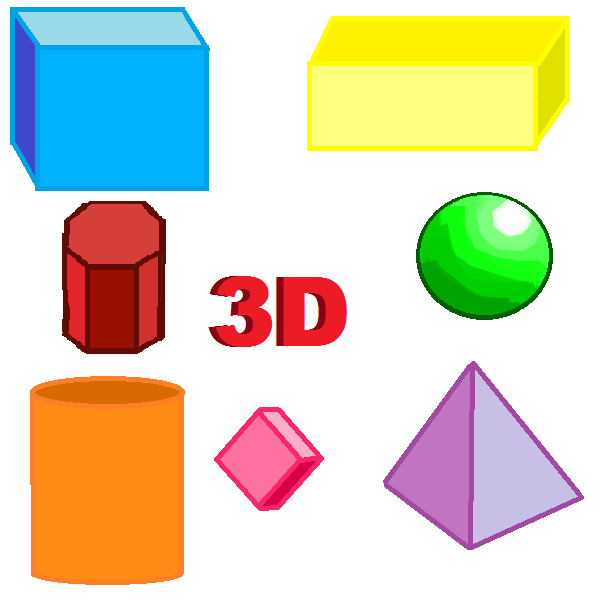 3D shapes by PurpleLion0112