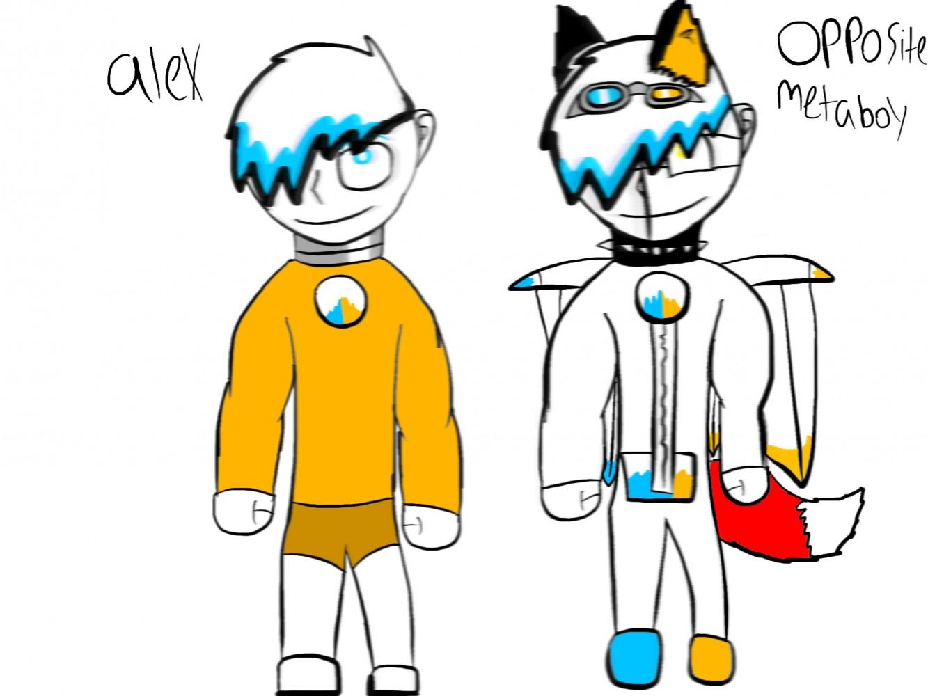 Alex and opposite metaboy by Sammygamer