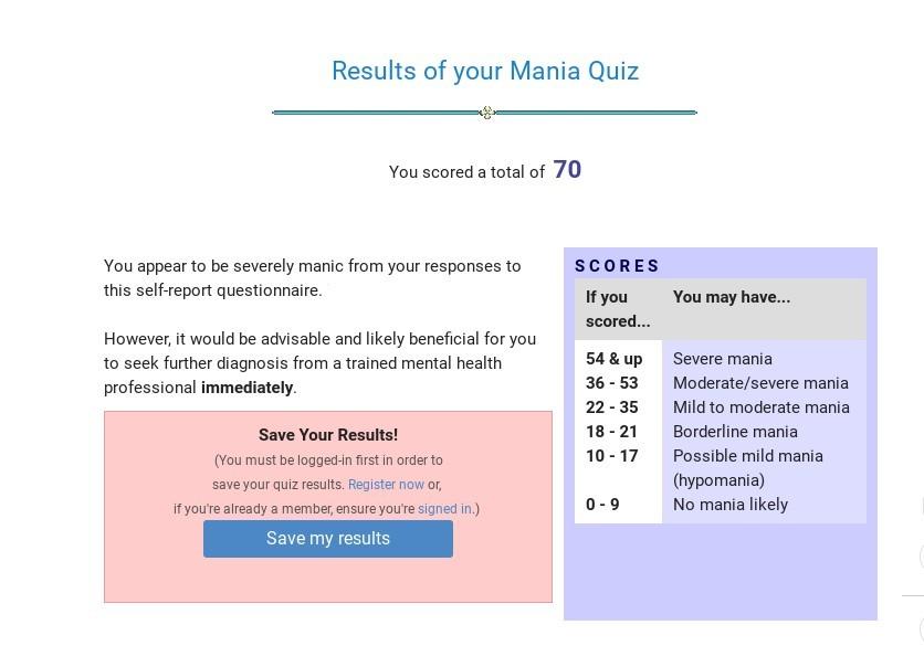 Pixilart Mental Health Quiz 3 Mania Uploaded By Java1125
