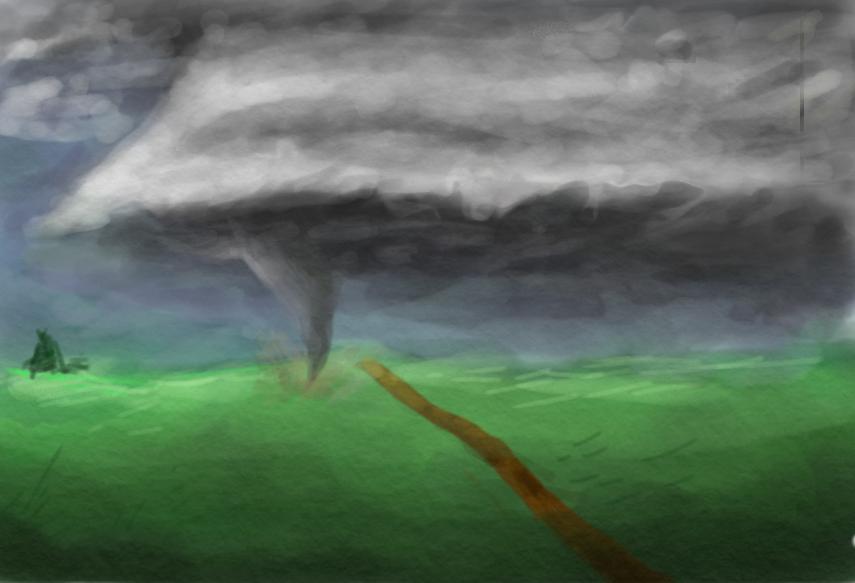 yo i drew a tornado by Forgan