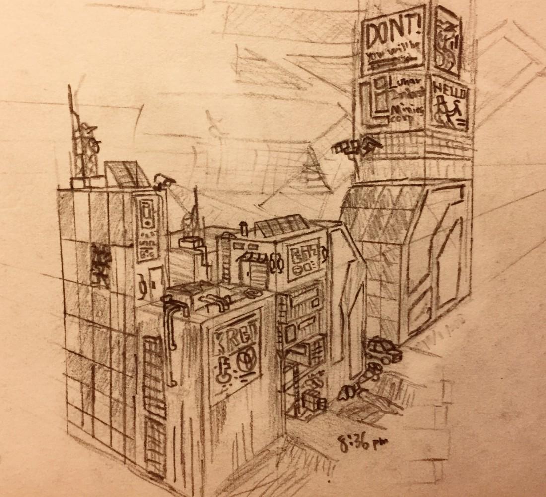 cyberish city by robotboredom