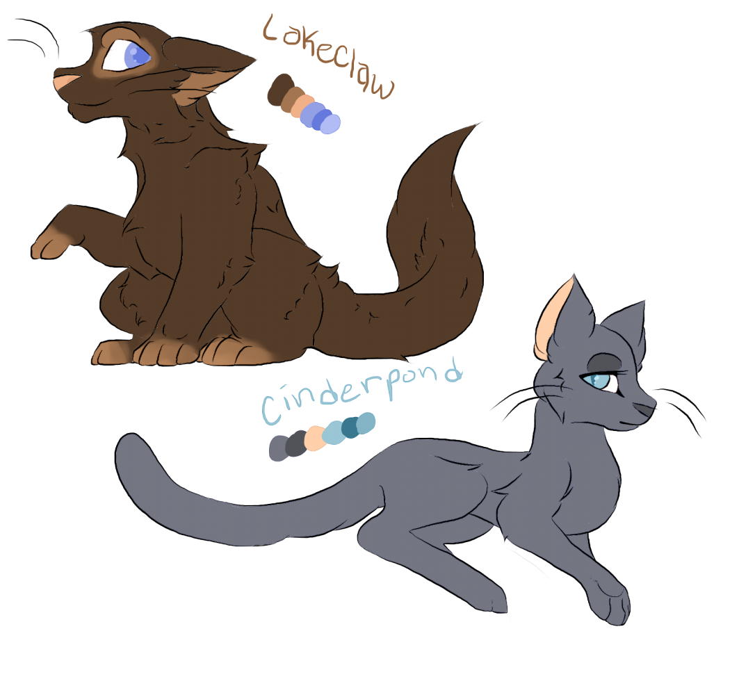 Lakeclaw and cinderpond! by Konna