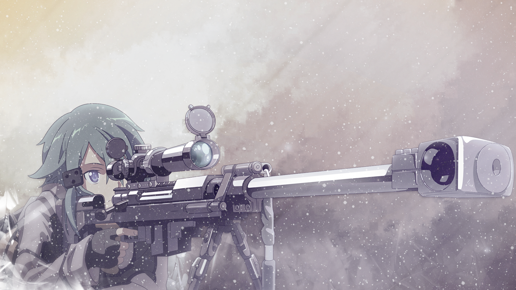 Sinon Aka COLD SNIPER by TheFallenStar