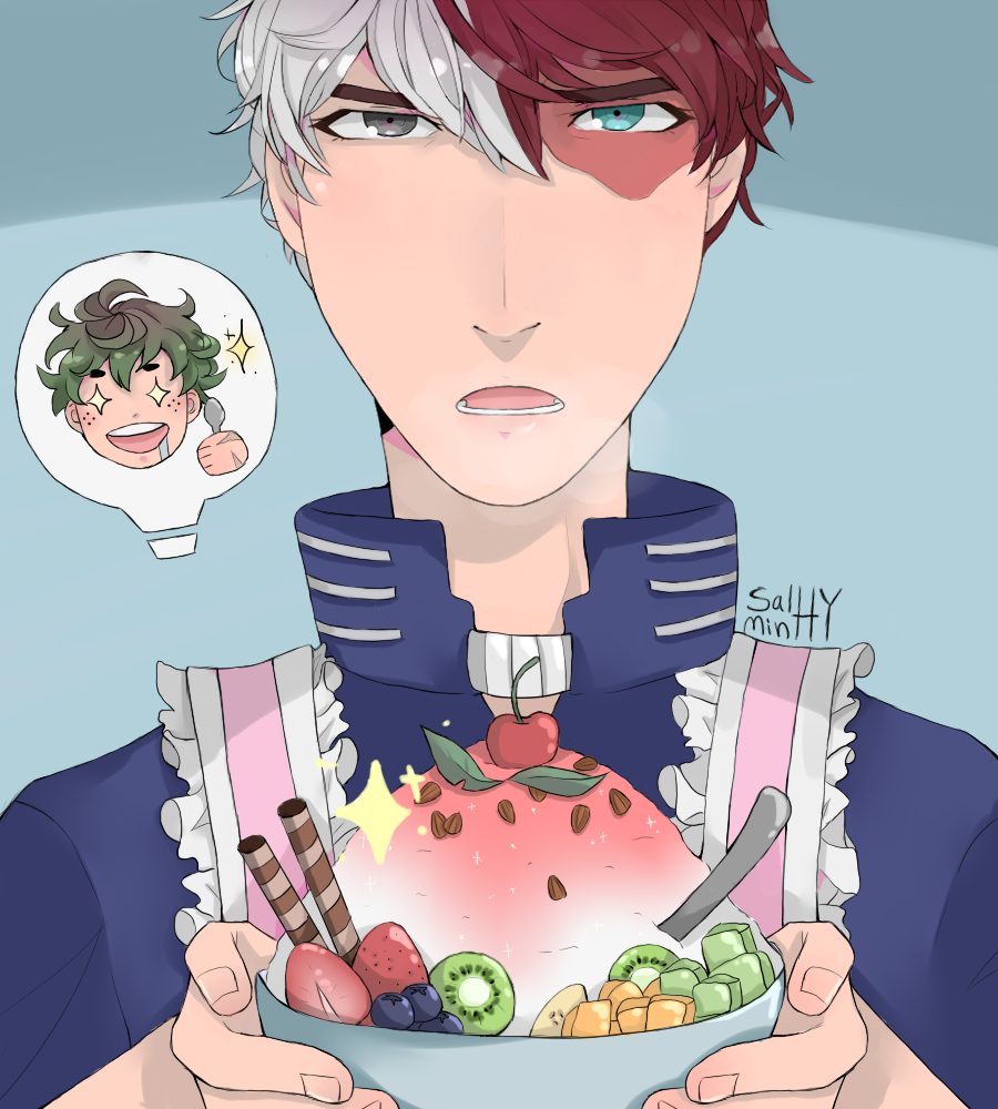 A quick todoroki drawing by Kimmy-Boi