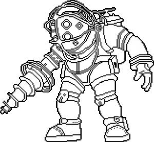 Pixilart Big Bioshock Uploaded By Starvader05